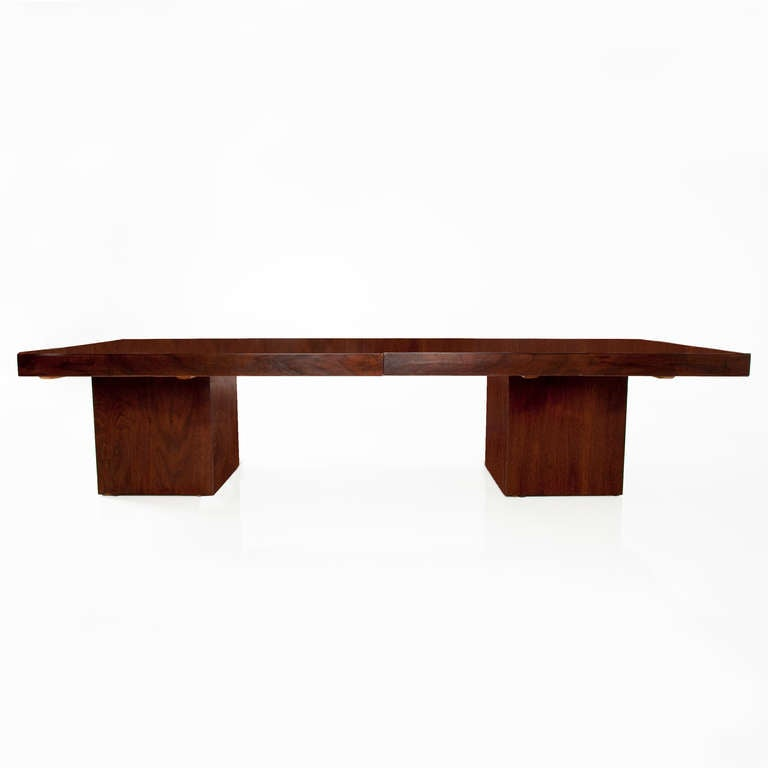 Ringgold Extendable Coffee Table With Storage: Simple Extendable Walnut Coffee Table By John Keal Design