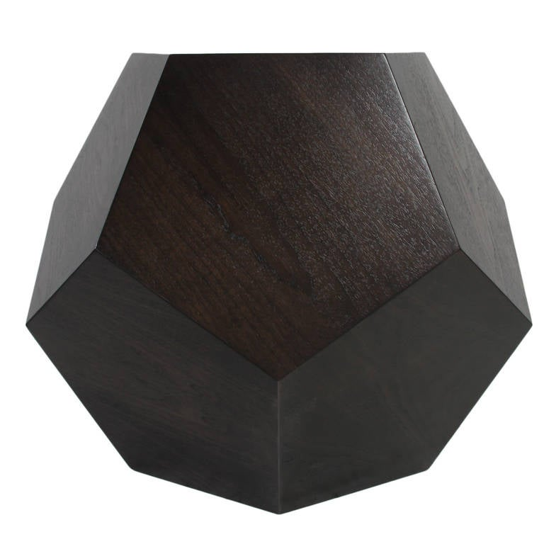 Dodecahedron Side Table in Walnut by Thomas Hayes Studio 3