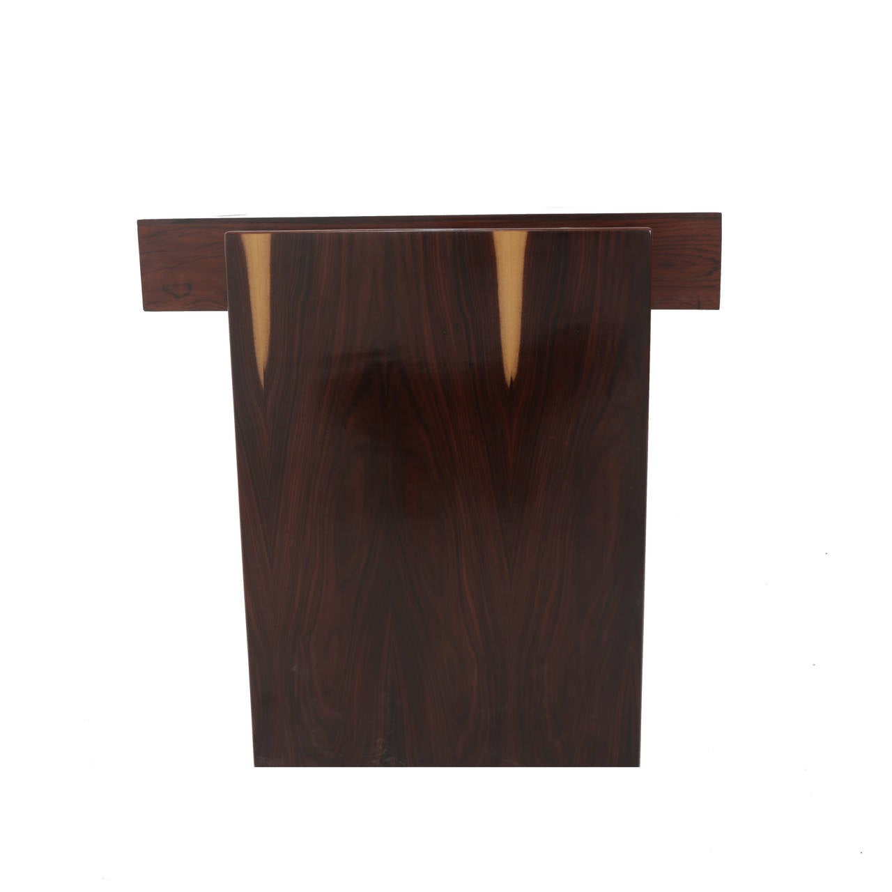 Rosewood and Glass Desk by Joaquim Tenreiro For Sale 1