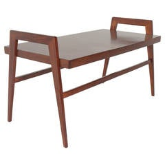 Brazilian Organic Modern Solid Peroba Side Table