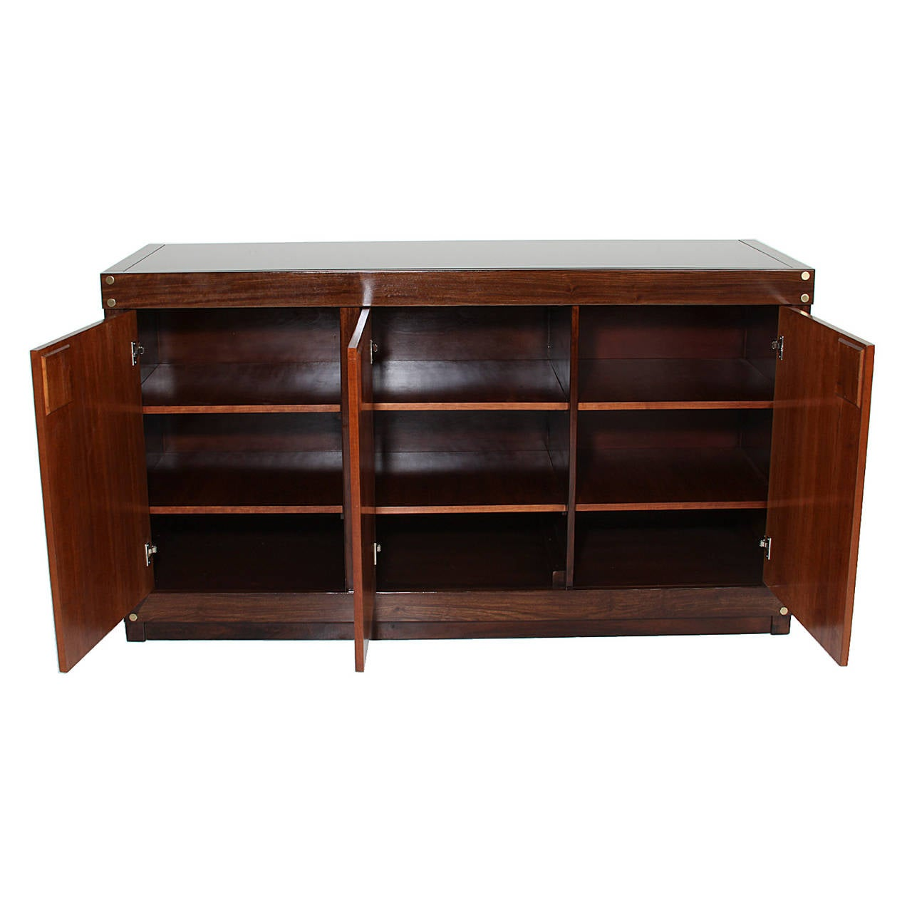 Rosewood And Glass-Top Credenza By Sergio Rodrigues At 1stdibs