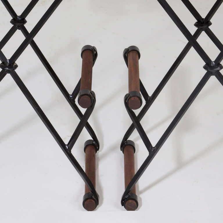 Iron and Rolled Seat Bar Stool by Thomas Hayes Studio 8