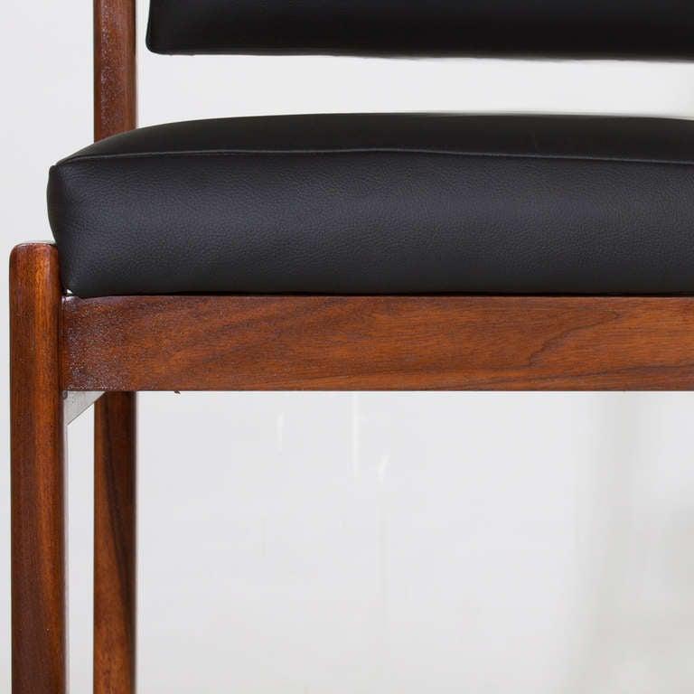 The Basic Pivot Back Bar Stool In Black Leather By Thomas
