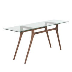 Gio Console in Solid Walnut by Thomas Hayes Studio
