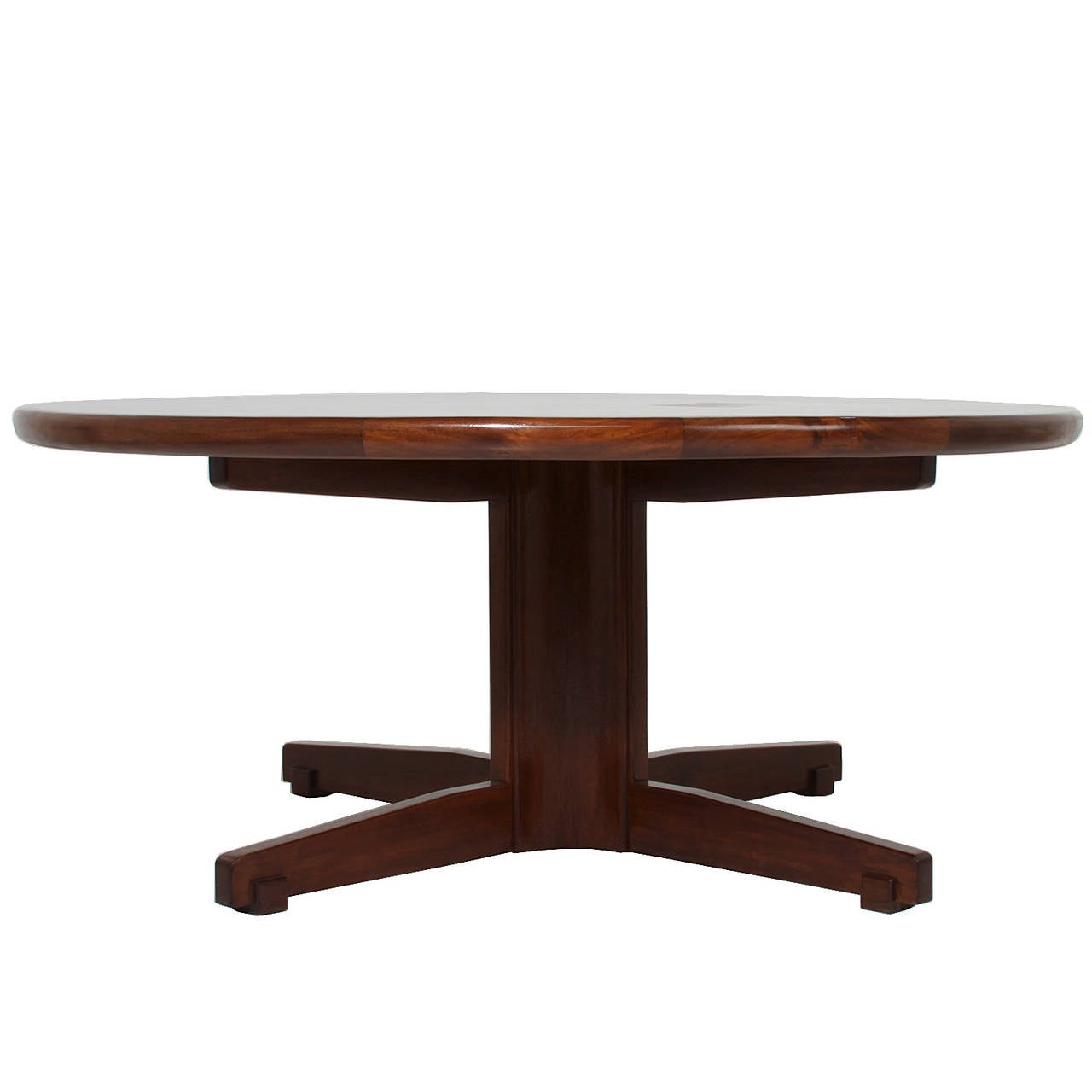 large round brazilian dining table in cetera wood attributed to celina