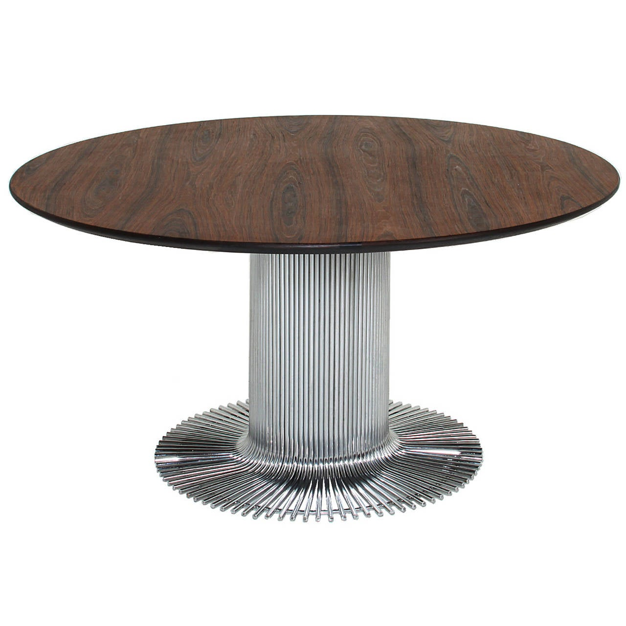 Brazilian Rosewood Table With Chrome Base 1