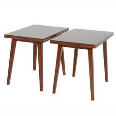 Pair Of Vintage Rosewood Side Tables From Brazil