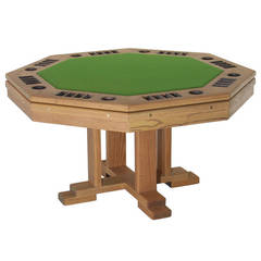 Smoked Oak Poker Table
