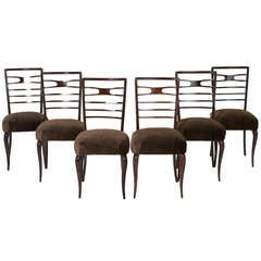 Giuseppe Scapinelli 1960's Set of 6 Brazilian Dining Chairs
