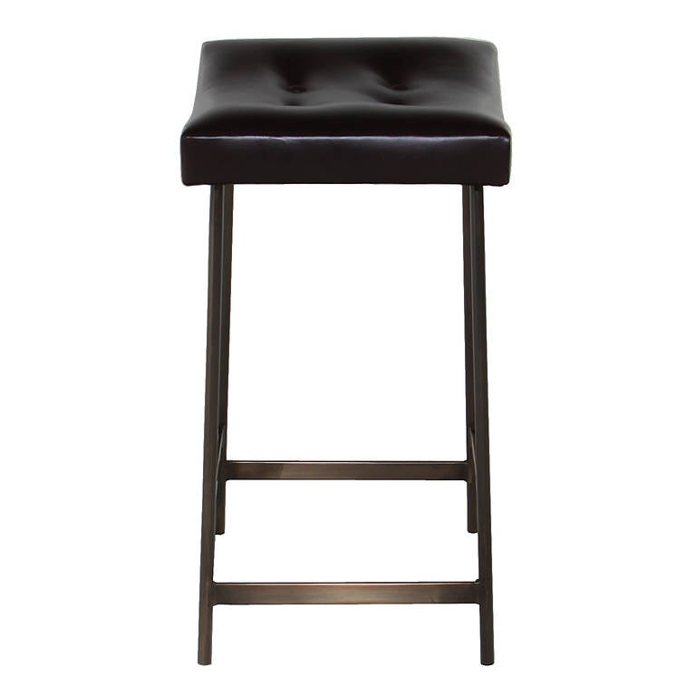 The Brass amp Leather Bunda Bar Stool by Thomas Hayes Studio  : 4l from 1stdibs.com size 768 x 768 jpeg 19kB