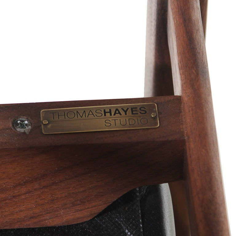 Basic Pivot Back Dining Chair in Walnut by Thomas Hayes Studio 9