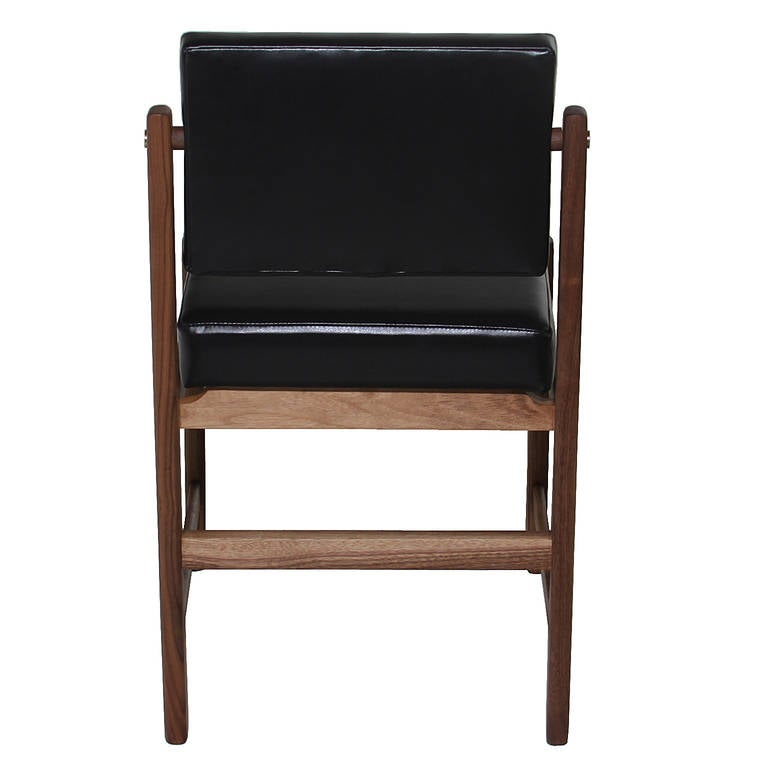 Basic Pivot Back Dining Chair in Walnut by Thomas Hayes Studio 5