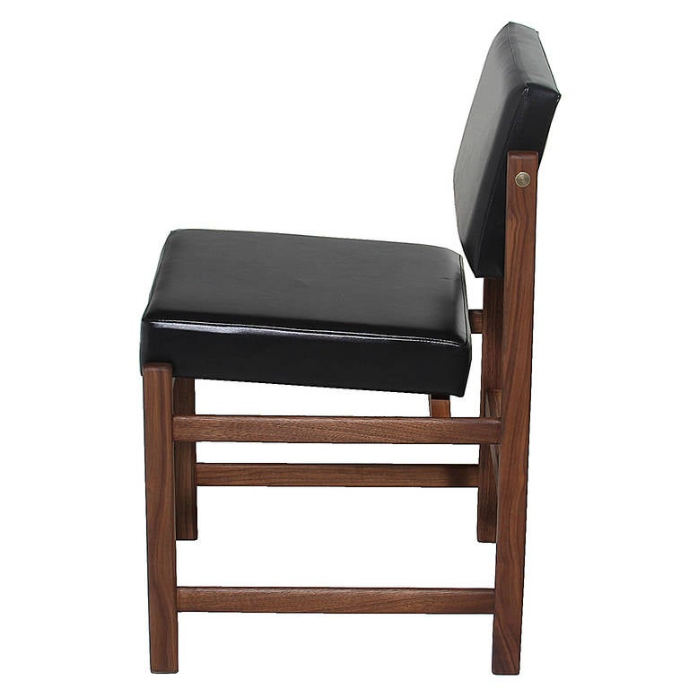 Basic Pivot Back Dining Chair in Walnut by Thomas Hayes Studio 2