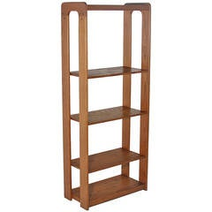 Mid-Century Modern Lou Hodges Bookcase in Solid Oak