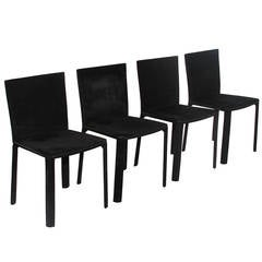 A Set of 4 De Couro of Brazil Chairs