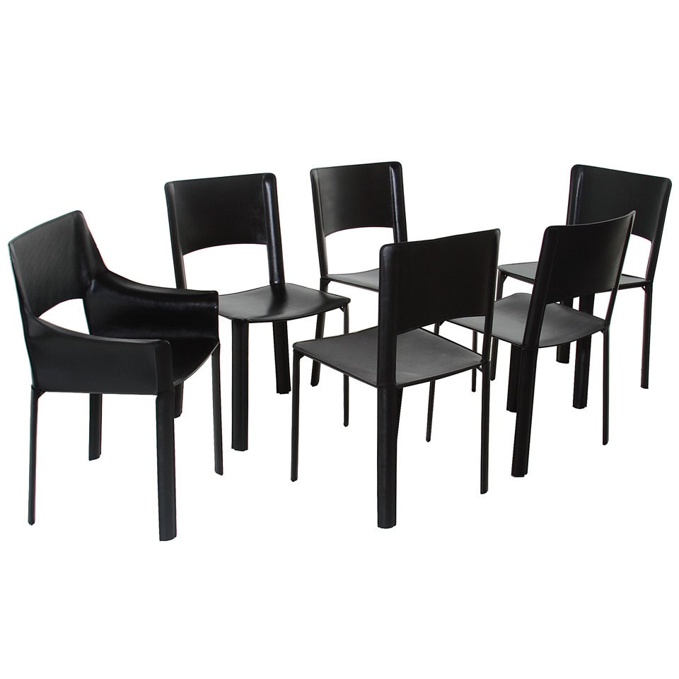 a set of 6 de couro of brazil dining chairs for sale at 1stdibs