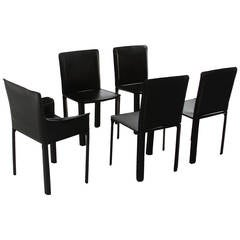 Set of Five De Couro of Brazil Dining Chairs