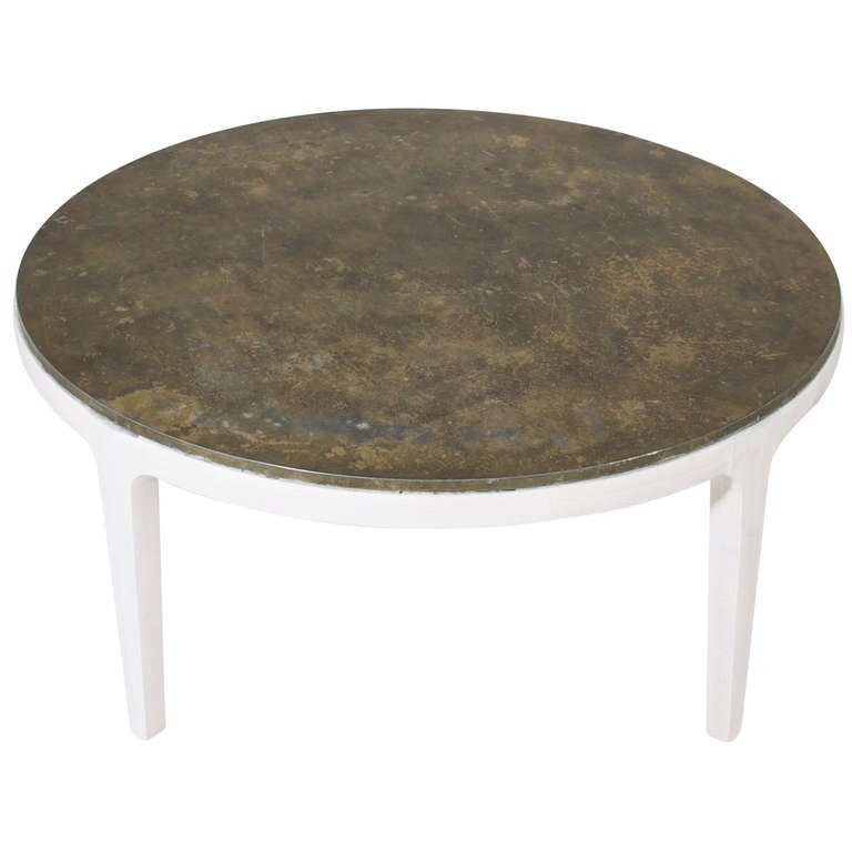 Round Bleached Walnut Coffee Table At 1stdibs