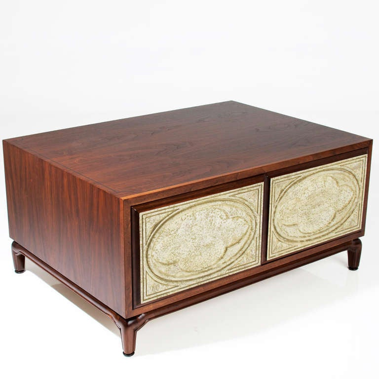 Massive Mahogany Coffee Table By Monteverdi-Young With