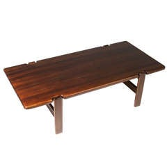 Danish Modern Staved Large Solid Teak Coffee Table from Denmark