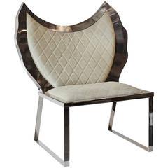 Cadeira Anjo Inox Estofada/ Angel Chair Inox Overstuffed by Alê Jordão