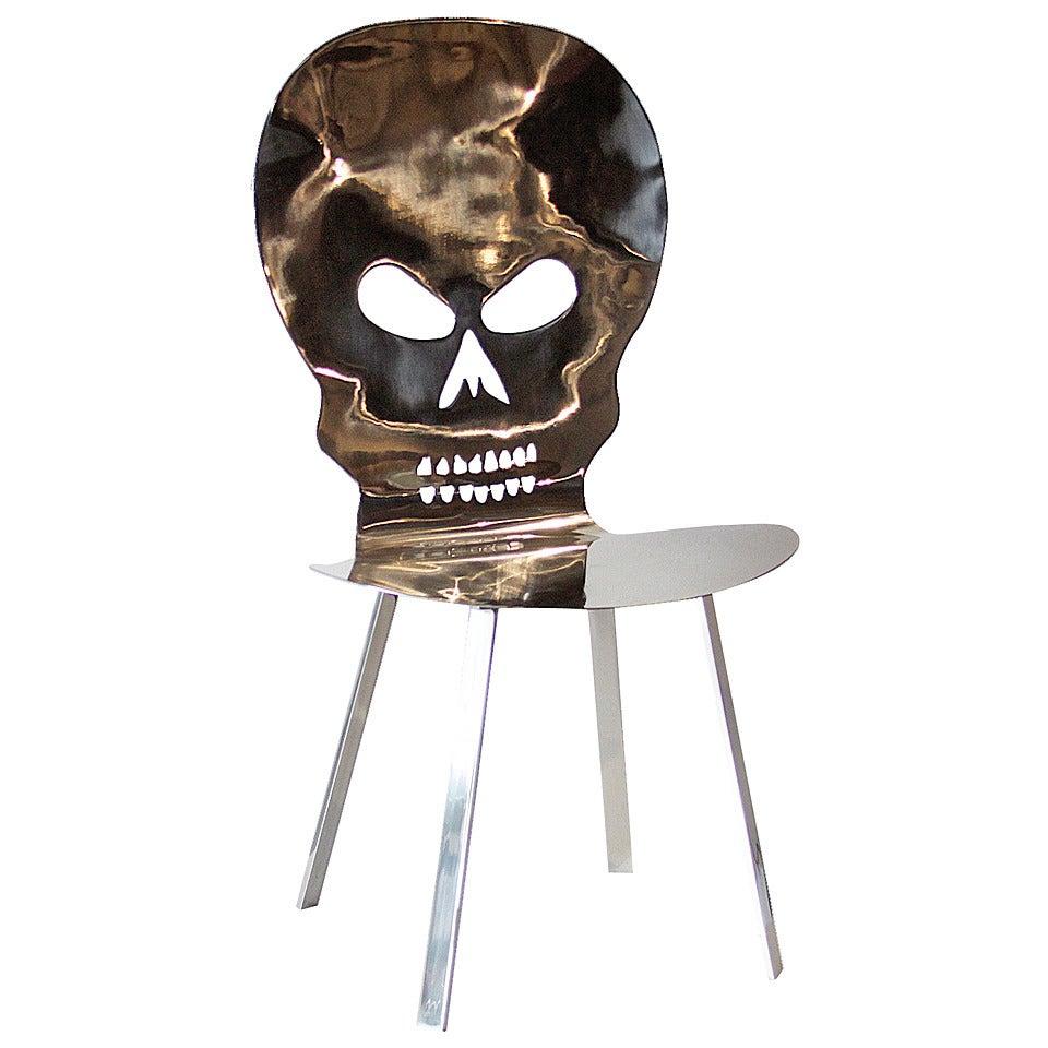 Cadeira Caveira Inox Skull Inox Chair By Al Jord O For Sale At 1stdibs