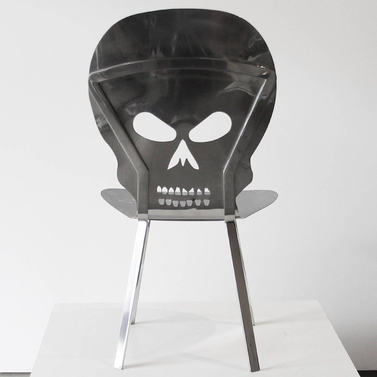 Cadeira Caveira Inox Skull Inox Chair by Alê Jordão For