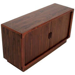 Rosewood Tambour Cabinet by Dyrlund from Denmark