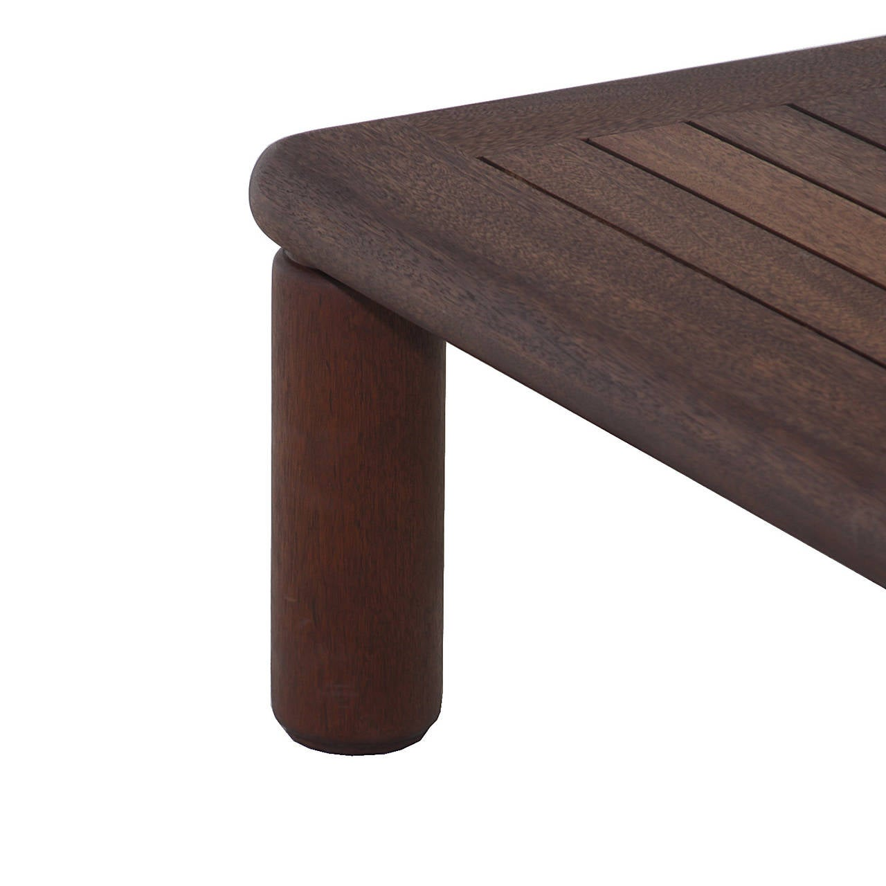 mahogany coffee table. American Slatted Solid Honduran Mahogany Coffee Table By Sherrill Broudy For Sale