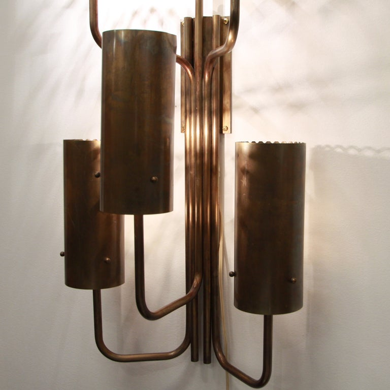 Large single bronze wall sconce 2