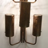 Large single bronze wall sconce image 3