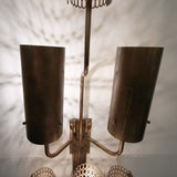 Large single bronze wall sconce image 6