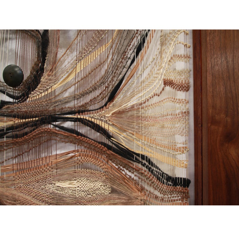 California Design Woven Construction in a Walnut Frame 2
