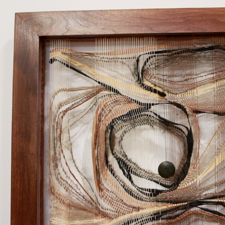 California Design Woven Construction in a Walnut Frame 4