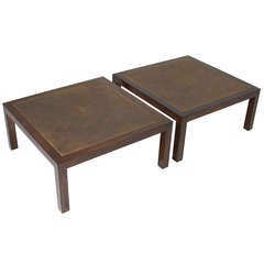 Harry Lunstead Bronze and Oak Coffee Table