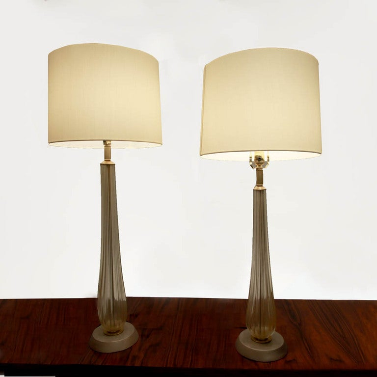this set of tall murano table lamps with silver bases is no longer. Black Bedroom Furniture Sets. Home Design Ideas