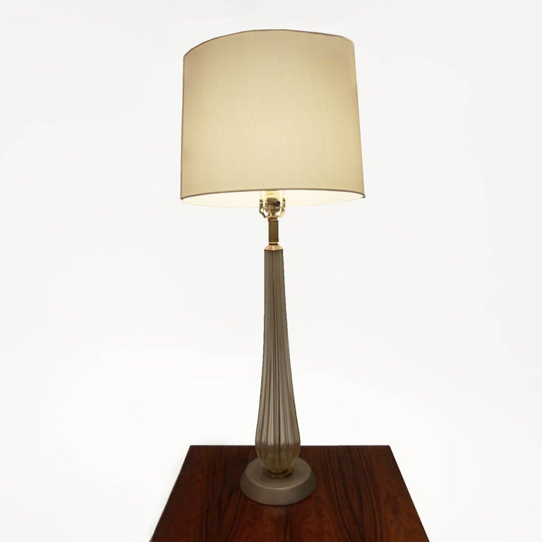 set of tall murano table lamps with silver bases at 1stdibs