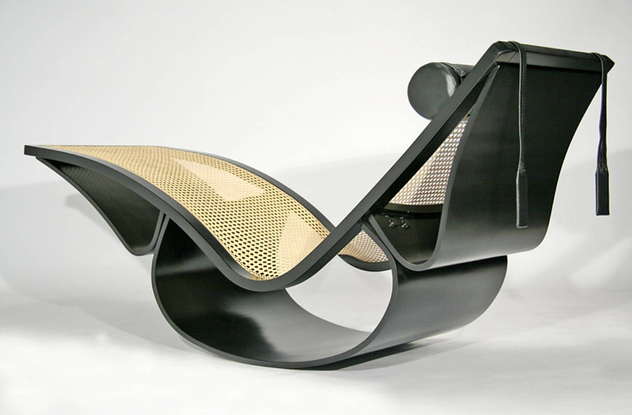 Vintage rio chaise longue by oscar niemeyer at 1stdibs for Chaise longue de couleur