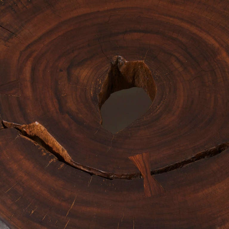 Live Edge Solid Slab Of Tamboril Coffee Table By Tunico T: Solid Tamboril Coffee Table By Tunico T. At 1stdibs