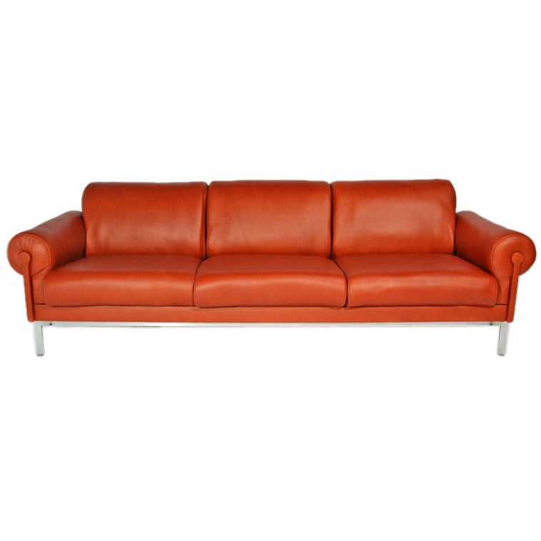 Burnt Orange Sectional Sofa Odile Burnt Orange Leather Chaise Sectional Sofa Polyvore Burnt