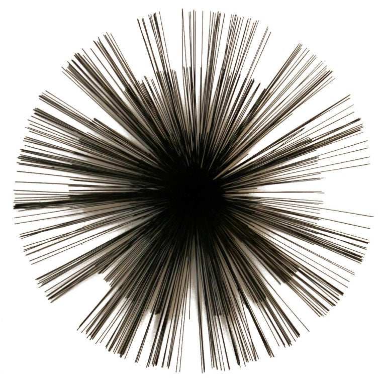 starburst wall sculpture by curtis jere at 1stdibs. Black Bedroom Furniture Sets. Home Design Ideas