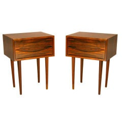Pair of tall rosewood nightstands by Arne Vodder