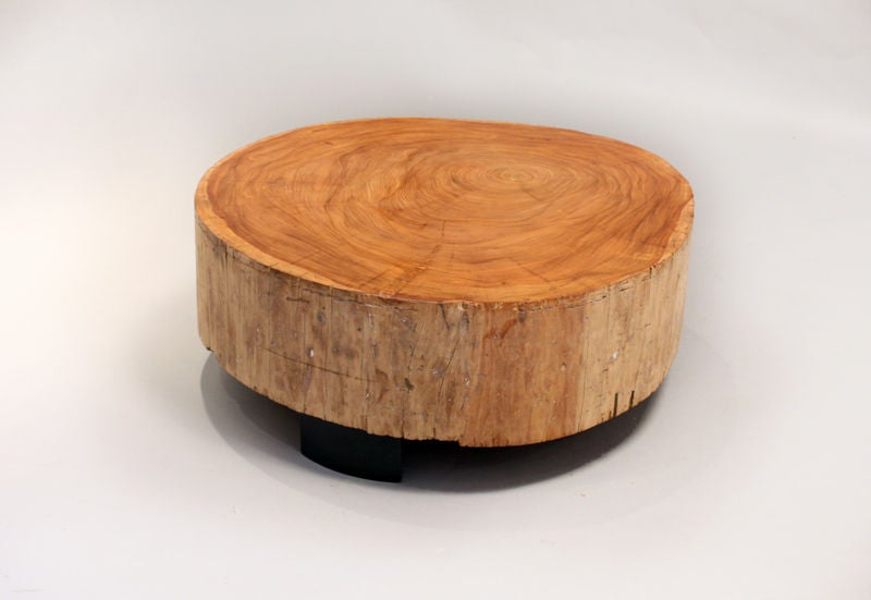Solid salvaged Peroba coffee table by Thomas Hayes Studio at 1stdibs