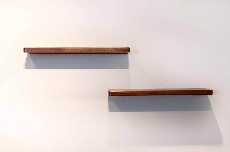 pair of wall hanging rosewood shelves by joaquim tenreiro at 1stdibs