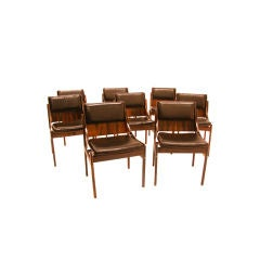 12 Rosewood dining chairs by Jorge Zalszupin for L'Atelier