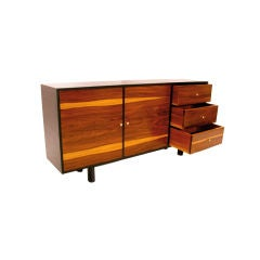 Rosewood and ebonized cabinet from Brazil