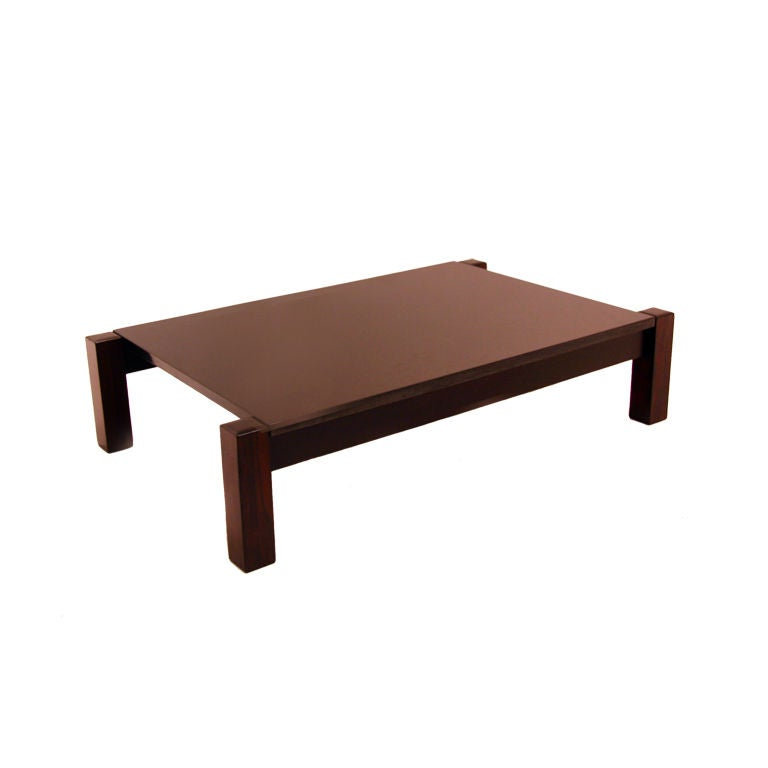 solid rosewood and black marble coffee table from brazil at 1stdibs. Black Bedroom Furniture Sets. Home Design Ideas