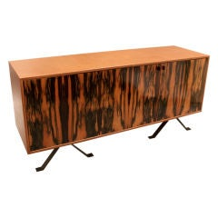 Leather wrapped credenza by Marcelo Vasconcellos