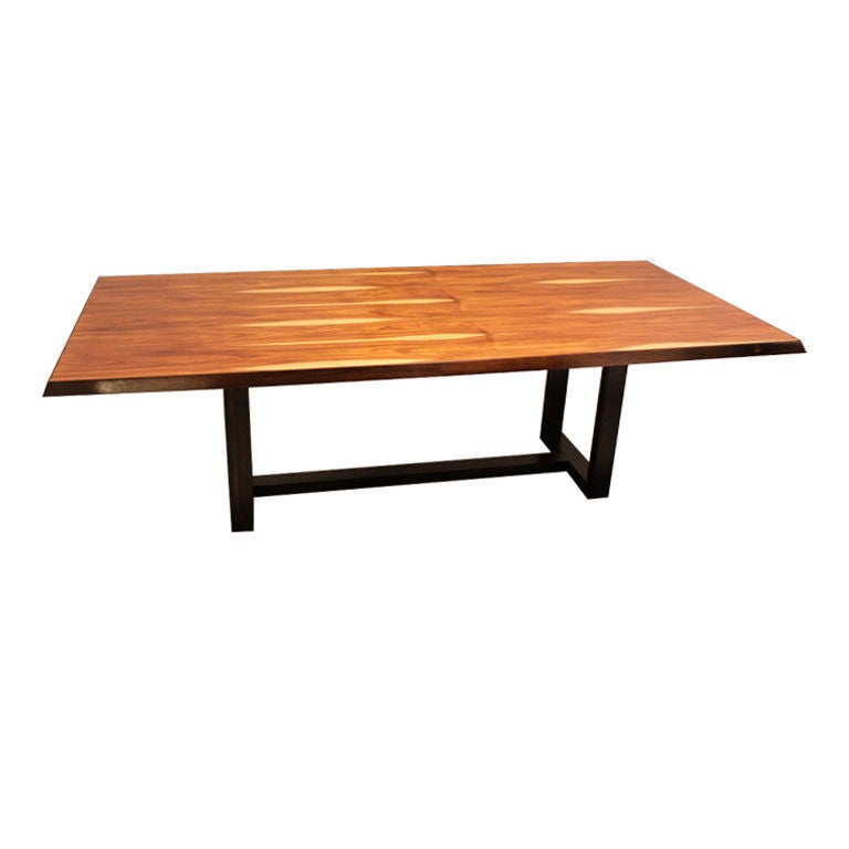 Noguchi Cyclone Table This Custom Salvaged Rosewood dining table by Thomas Hayes Studio is ...