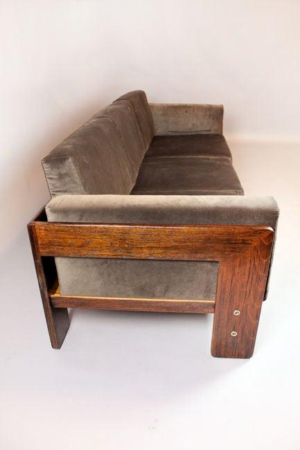 greige velvet bastiano sofa by carlo scarpa at 1stdibs. Black Bedroom Furniture Sets. Home Design Ideas